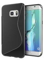 Cиликоновый чехол c волной для Samsung Galaxy S7 Edge черный - S Line Wave Silicone Case Black