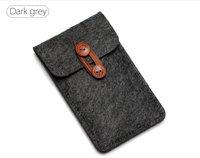 """Чехол карман из войлока на пуговице с отделом для карт для  iPhone 6 / 6s (4.7"""") темно серый"""