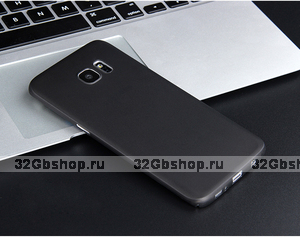 Черный ультратонкий чехол накладка для Samsung Galaxy S7