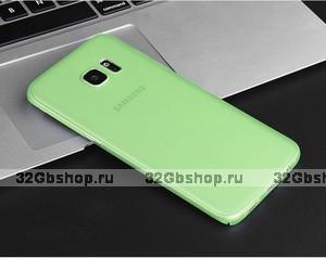 Зеленый ультратонкий чехол накладка для Samsung Galaxy S7