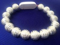 Кабель - браслет - бусы алюминевые для Apple iPhone 5S / SE / 5 / 6 / 6 плюс