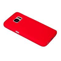 Красный матовый силиконовый чехол для Samsung Galaxy S7