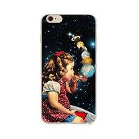 """Чехол пластиковый для iPhone 6 / 6s (4.7"""") накладка Девочка с трубкой"""
