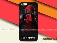 Черный пластиковый чехол накладка для iPhone 6s / 6 с рисунком DEADPOOL