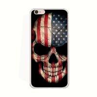 """Силиконовый чехол для iPhone 6s / 6 (4.7"""") с рисунком Череп и флаг"""