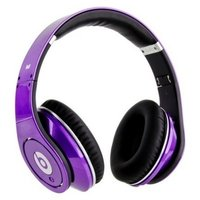 Наушники Monster Beats Studio с кнопкой ответа на вызов фиолетовые