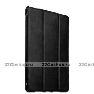 Черный кожаный винтажный чехол для iPad Pro 9.7 - i-Carer Vintage Series Black