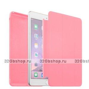Розовый чехол обложка с накладкой Smart Cover & Case для iPad mini 4