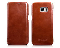 Коричневый винтажный кожаный чехол для Samsung Galaxy S7 Edge - i-Carer Vintage Series Brown