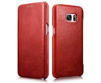 Красный винтажный кожаный чехол для Samsung Galaxy S7 Edge - i-Carer Vintage Series Red