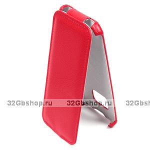 Красный чехол флип для Samsung Galaxy S7