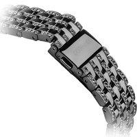 Черный металлический ремешок со стразами для Apple Watch 42мм - COTEetCI W4 Magnificent Band Black