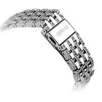 Серебряный металлический ремешок со стразами для Apple Watch 42мм - COTEetCI W4 Magnificent Band Silver