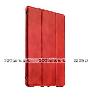 Красный винтажный кожаный чехол для iPad Pro 9.7 - i-Carer Vintage Series Red