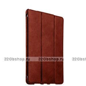 Коричневый винтажный кожаный чехол для iPad Pro 9.7 - i-Carer Vintage Series Brown