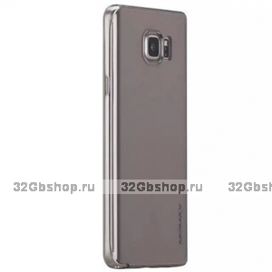 Черный прозрачный тонкий силиконовый чехол для Samsung Galaxy Note 5