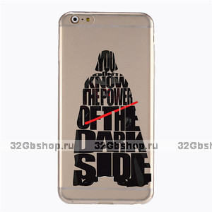 "Прозрачный пластиковый чехол накладка для iPhone 6 Plus / 6s Plus (5.5"") ТЫ НЕ ЗНАЕШЬ СИЛУ ТЕМНОЙ СТОРОНЫ - YOU DON'T KNOW THE POWER OF THE DARK SIDE"