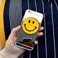 """Чехол накладка для iPhone 6 / 6s (4.7"""") Зеркальная со смайликом"""