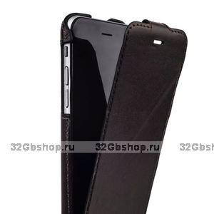Коричневый кожаный чехол для iPhone 6s / 6 (4.7) с откидным верхом - Valenta Flip Classic Luxe Brown