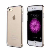 Черный прозрачный силиконовый чехол для iPhone 7 / 7s