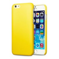 Пластиковый чехол для iPhone 7 желтый - Soft Touch Plastic Case Yellow