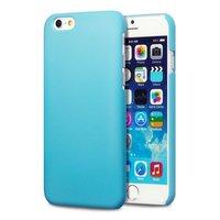 Пластиковый чехол для iPhone 7 голубой - Soft Touch Plastic Case Blue