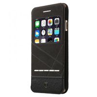 Черный чехол книжка с окошком на iPhone 7 - Baseus Unique leather case for iPhone 7