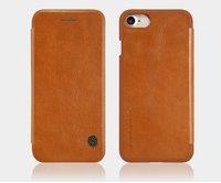 Коричневый кожаный чехол книжка для iPhone 7 - Nillkin Qin Leather Case brown
