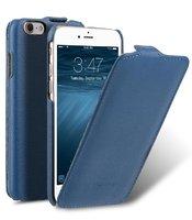 Синий кожаный чехол Melkco для iPhone 7 - Melkco Leather Case Jacka Type Blue