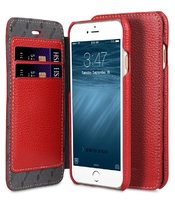 Кожаный чехол книга кошелек для iPhone 7 / 8 красный - Melkco Face Cover Book Type Red