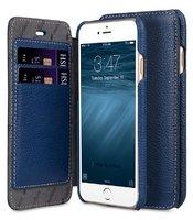 Кожаный чехол книга кошелек для iPhone 7 синий - Melkco Face Cover Book Type Blue