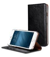 Кожаный чехол книжка подставка для iPhone 7 черный - Melkco Herman Series Genuine Leather Case Black