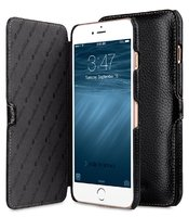 Черный кожаный чехол книжка для iPhone 7 Plus - Melkco Premium Leather Case Booka Stand Type (Black LC)