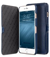 Синий кожаный чехол книжка для iPhone 7 Plus - Melkco Premium Leather Case Booka Stand Type (Dark Blue LC)