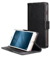 Черный кожаный чехол книжка подставка для iPhone 7 Plus - Melkco Premium Leather Case Locka Type (Black LC)