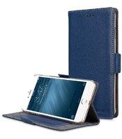 Синий кожаный чехол книжка подставка для iPhone 7 Plus - Melkco Premium Leather Case Locka Type (Dark Blue LC)