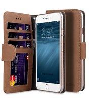 "Коричневый замшевый чехол для iPhone 7 Plus / 8 Plus (5.5"") - Melkco Premium Leather Case Wallet Book ID Slot Type (Classic Vintage Brown)"