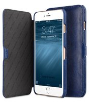 "Синий чехол книжка для iPhone 7 Plus (5.5"") - Melkco Mini PU Leather Case Booka Stand Type (Dark Blue)"