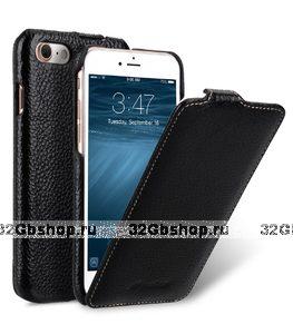 """Черный кожаный чехол для iPhone 7 Plus (5.5"""") - Melkco Premium Leather Case Jacka Type (Black LC)"""
