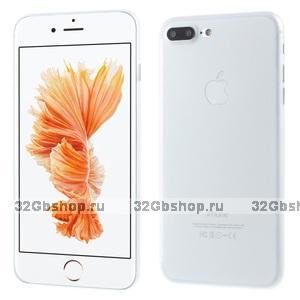 Белый ультратонкий пластиковый чехол для iPhone 7 Plus