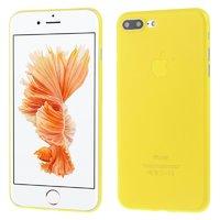 Желтый ультратонкий пластиковый чехол для iPhone 7 Plus