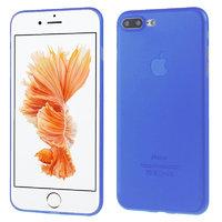 Синий ультратонкий пластиковый чехол для iPhone 7 Plus
