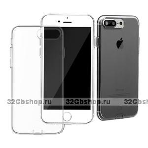 Тонкий черный прозрачный силиконовый чехол для iPhone 7 Plus