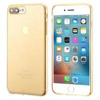 Тонкий золотистый прозрачный силиконовый чехол для iPhone 7 Plus