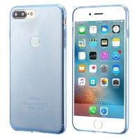 Тонкий синий прозрачный силиконовый чехол для iPhone 7 Plus
