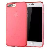 Прозрачный красный силиконовый чехол для iPhone 7 Plus