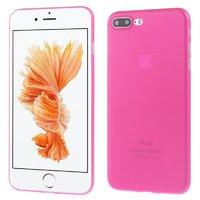 Розовый ультратонкий пластиковый чехол для iPhone 7 Plus