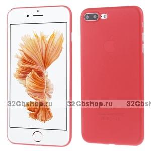 Красный ультратонкий пластиковый чехол для iPhone 7 Plus