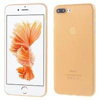 Оранжевый ультратонкий пластиковый чехол для iPhone 7 Plus