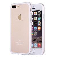 Белый пластиковый бампер с прозрачной полосой для iPhone 7 Plus
